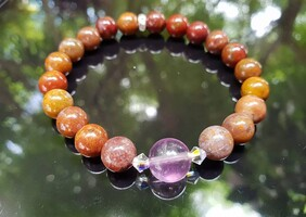 Agua Nueva Agate with Purple Fluorite Stone - Special Offer