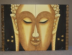 Buddha Painting - 2 Canvases   * Clearance*