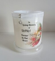 Bouquet Flower Memorial Candle