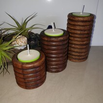 Mangowood Tealight Holders - Trio      *Clearance*