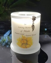 Yellow Roses Memorial Candle