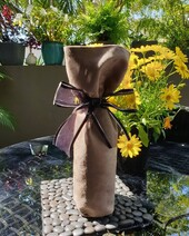 Wine Gift Bag - Suede Brown